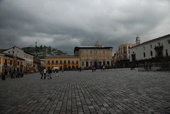 βασικό plaza Κουίτο Στοκ φωτογραφία με δικαίωμα ελεύθερης χρήσης