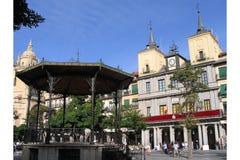 βασικό plaza segovia Ισπανία στοκ φωτογραφία με δικαίωμα ελεύθερης χρήσης