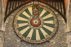 Βασιλιάς Άρθουρ, Winchester, Αγγλία διασκέψεων στρογγυλής τραπέζης, στοκ εικόνα με δικαίωμα ελεύθερης χρήσης