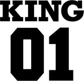 Βασιλιάς 01 κολλέγιο Σχέδιο μπλουζών ζεύγους Στοκ φωτογραφία με δικαίωμα ελεύθερης χρήσης