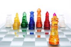 βασιλιάς παιχνιδιών σκακ& Στοκ Εικόνες