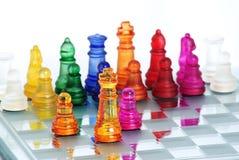 βασιλιάς παιχνιδιών σκακ& Στοκ Εικόνα