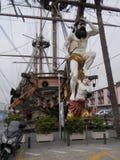 Βασιλιάς Ποσειδώνας στο τόξο του σκάφους Στοκ Φωτογραφίες