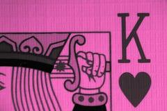 Βασιλιάς της μακροεντολής καρδιών, κάρτες τύχη-αφήγησης Απόκρυφο τελετουργικό καρτών, Στοκ Εικόνες