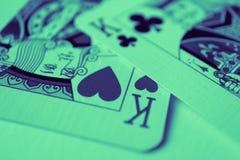 Βασιλιάς της μακροεντολής καρδιών, κάρτες τύχη-αφήγησης Απόκρυφο τελετουργικό καρτών, Στοκ εικόνες με δικαίωμα ελεύθερης χρήσης