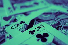 Βασιλιάς της μακροεντολής καρδιών, κάρτες τύχη-αφήγησης Απόκρυφο τελετουργικό καρτών, Στοκ Φωτογραφίες
