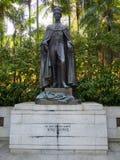 Βασιλιάς George VI άγαλμα στο Χονγκ Κονγκ ζωολογικό και τους βοτανικούς κήπους στοκ εικόνες με δικαίωμα ελεύθερης χρήσης