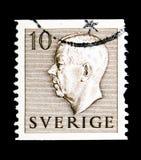Βασιλιάς Gustaf VI Αδόλφος, serie, circa 1954 Στοκ Εικόνες