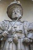 Βασιλιάς Henry VIII άγαλμα στο Λονδίνο Στοκ Φωτογραφία