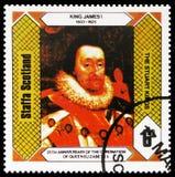 Βασιλιάς James Ι, οι βασιλιάδες του Stuart, 25η επέτειος coronation της βασίλισσας Elizabeth II, Staffa Σκωτία serie, circa 1978 στοκ φωτογραφία