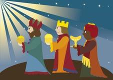 βασιλιάδες τρία Στοκ Εικόνες