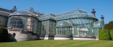 Βασιλικά θερμοκήπια Laeken, Βρυξέλλες, Βέλγιο, που αποτελείται από ένα συγκρότημα διάφορων θερμοκηπίων στοκ φωτογραφία με δικαίωμα ελεύθερης χρήσης