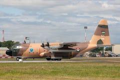 Βασιλικά ιορδανικά Lockheed γ-130H Hercules Πολεμικής Αεροπορίας στρατιωτικά αεροσκάφη μεταφορών Στοκ φωτογραφίες με δικαίωμα ελεύθερης χρήσης