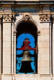 Βασιλικές βασιλική βασιλικών Estrela και μονή της πιό ιερής καρδιάς του Ιησού Bell Tower In Λισσαβώνα Στοκ Εικόνες