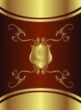 βασιλική ασπίδα σοκολάτας διανυσματική απεικόνιση