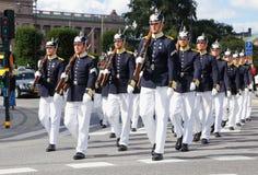 Βασιλική πορεία φρουρών Στοκ Εικόνες