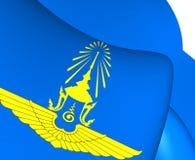 Βασιλική ταϊλανδική σημαία Πολεμικής Αεροπορίας Στοκ Εικόνες