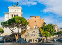 Βασιλική της Σάντα Μαρία σε Ara Coeli, Ρώμη, Ιταλία Στοκ Εικόνες