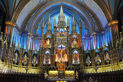 Βασιλική του Μόντρεαλ Notre-Dame Στοκ φωτογραφία με δικαίωμα ελεύθερης χρήσης