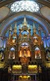 Βασιλική του Μόντρεαλ Notre-Dame Στοκ εικόνα με δικαίωμα ελεύθερης χρήσης