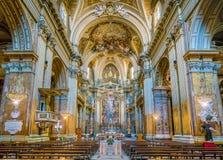 Βασιλική του Santi ΧΙΙ Apostoli, στη Ρώμη, Ιταλία Στοκ φωτογραφία με δικαίωμα ελεύθερης χρήσης