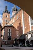 Βασιλική του ST Mary στην Κρακοβία στοκ εικόνα με δικαίωμα ελεύθερης χρήσης