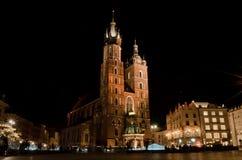 Βασιλική του ST Mary ` s στην Κρακοβία, Πολωνία Στοκ Εικόνα