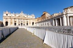 Βασιλική του ST Peter, πόλη του Βατικανού, Ρώμη, Ιταλία στοκ φωτογραφία