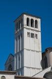 βασιλική belltower Francesco ST Ουμβρία assisi στοκ εικόνες με δικαίωμα ελεύθερης χρήσης