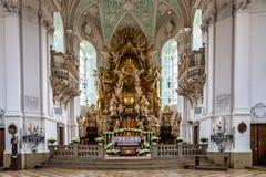 Βασιλική Goessweinstein σε ανώτερο Franconia, Βαυαρία στη Γερμανία στοκ εικόνες με δικαίωμα ελεύθερης χρήσης