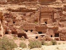 βασιλικοί τάφοι PETRA της Ιορδανίας Στοκ εικόνα με δικαίωμα ελεύθερης χρήσης