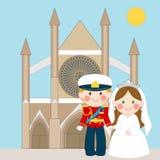 βασιλικός γάμος διανυσματική απεικόνιση