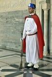 Βασιλικός στρατιώτης φρουράς στο μαυσωλείο του βασιλιά, Μαρόκο στοκ φωτογραφίες