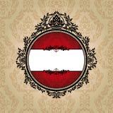 βασιλικός τρύγος πλαισί&ome διανυσματική απεικόνιση
