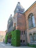 Βασιλικό κτήριο βιβλιοθηκών από την Κοπεγχάγη - τη Δανία στοκ φωτογραφία με δικαίωμα ελεύθερης χρήσης