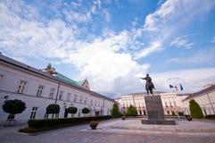 Βασιλικό μέρος στη Βαρσοβία Στοκ Φωτογραφία