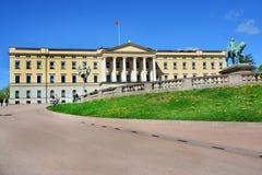 Βασιλικό παλάτι στο Όσλο, Νορβηγία στοκ φωτογραφίες