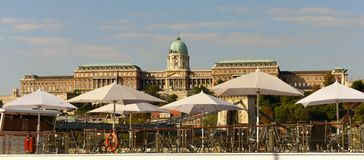 Βασιλικό παλάτι της Βουδαπέστης, Ουγγαρία στοκ εικόνες