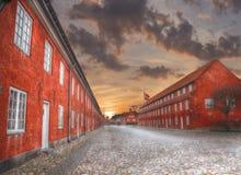 Βασιλικό παλάτι Amalienborg στην Κοπεγχάγη στοκ εικόνες με δικαίωμα ελεύθερης χρήσης