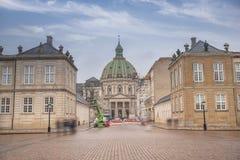 Βασιλικό παλάτι Amalienborg στην Κοπεγχάγη στοκ εικόνα με δικαίωμα ελεύθερης χρήσης