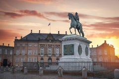 Βασιλικό παλάτι Amalienborg στην Κοπεγχάγη στοκ εικόνα