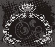 Βασιλικό σχέδιο Grunge κορωνών διανυσματική απεικόνιση