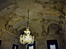 Βασιλικό φωτισμός, παραμύθι και κάστρο στοκ εικόνα