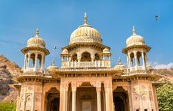 Βασιλικό Gaitor, ένα κενοτάφιο στο Jaipur - το Rajasthan, Ινδία Στοκ Εικόνες