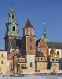 βασιλικό wawel της Κρακοβίας Πολωνία καθεδρικών ναών κάστρων στοκ φωτογραφία με δικαίωμα ελεύθερης χρήσης