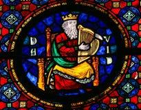 Βασιλιάς Δαβίδ - λεκιασμένο γυαλί στοκ εικόνα με δικαίωμα ελεύθερης χρήσης
