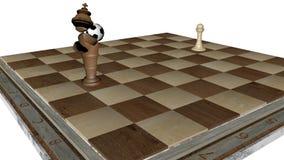 Βασιλιάς ενέχυρων σκακιού εμείς διανυσματική απεικόνιση