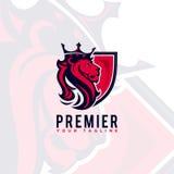 Βασιλιάς λιονταριών λογότυπων σχεδίου Στοκ Φωτογραφίες