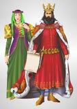 Βασιλιάς και βασίλισσα Illustration Στοκ εικόνες με δικαίωμα ελεύθερης χρήσης
