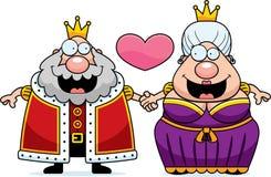 Βασιλιάς και βασίλισσα Love κινούμενων σχεδίων Στοκ Εικόνες